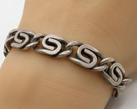 "DANECRAFT 925 Sterling Silver - ""S"" Swirl Design Pattern Bracelet - B1872 - $124.26"