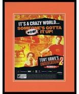 Tony Hawk's Underground 2 PS2 2004 Framed 11x14 ORIGINAL Advertisement - $34.64