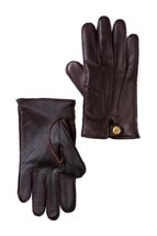 UGG Faux Fur Lined 3 Point Snap Smart Glove L Brown NEW - $50.47