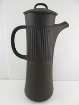 "Vintage Mid-Century Dansk Design 13"" FLAMESTONE BROWN Coffee Pot & Lid c.1958 - $89.09"