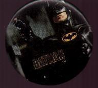DC Comics 1989 Batman with Bat Gadget Pin Pinback