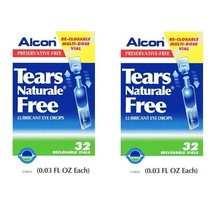 Tears Naturale Alcon Free Lubricant Eye Drops 32 Vials 2 Boxes EXP. 2019 - $34.90