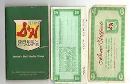 S & H Green Stamp Books, One Book & Two 1200 Award Certificates, Collect... - $5.00