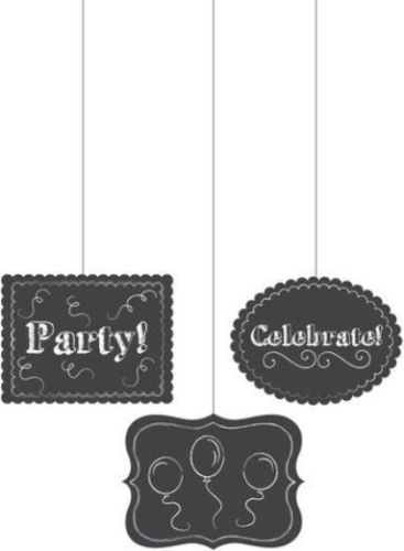 Chalkboard Hanging Cutouts Party Celebrate Balloons Birthday Grad Retirement