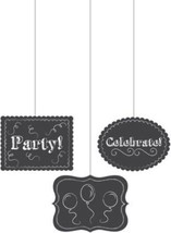 Chalkboard Hanging Cutouts Party Celebrate Balloons Birthday Grad Retire... - $6.36