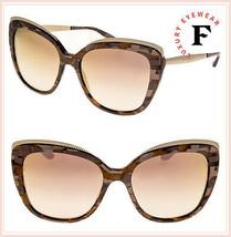 DOLCE & GABBANA GROS GRAIN 4332 Rose Gold Brown Pearl Mirrored Sunglasse... - $266.31