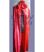 "Red Velvet Halloween ADULT Cape Cloak 48"" long NEW - $14.99"