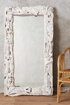 Anthropologie Coastal Rustic Driftwood Wall Mirror Full Length Leaner Bu... - $890.01