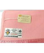 Merino Wool Pink Coral 68x90 Vtg Atkinson Satin Edge LIGHTCLIFFE Blanket... - $146.47