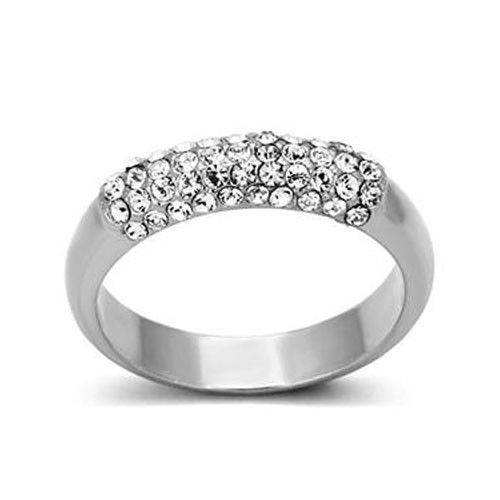 Top Grade Crystal Anniversary Wedding Band - SIZE 6, 7, 8 Limited Quantity