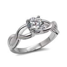 Never Fade Stainless Steel 2.30 Carat CZ Solitaire Engagement Ring -SIZE 5, 6, 9 image 1
