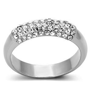 Top Grade Crystal Anniversary Wedding Band - SIZE 6, 7, 8 Limited Quantity image 2