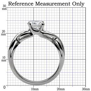 Never Fade Stainless Steel 2.30 Carat CZ Solitaire Engagement Ring -SIZE 5, 6, 9 image 2