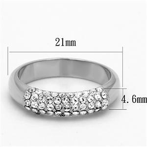 Top Grade Crystal Anniversary Wedding Band - SIZE 6, 7, 8 Limited Quantity image 3