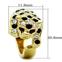 Two Tone Crystal Panther Leopard Cat Animal Ring - SIZE 7 (last one) image 2
