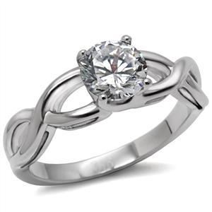 Never Fade Stainless Steel 2.30 Carat CZ Solitaire Engagement Ring -SIZE 5, 6, 9 image 3
