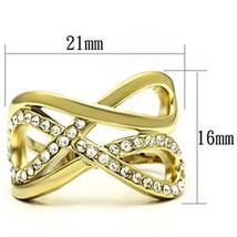 Infinity IP Gold Tone Crystal Band Ring - SIZE 6 OR OTHER SIZES image 3