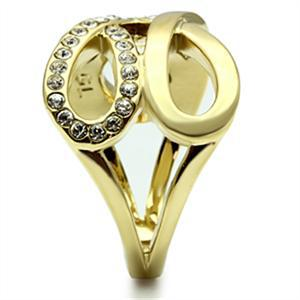 Infinity IP Gold Tone Crystal Band Ring - SIZE 6 OR OTHER SIZES image 4