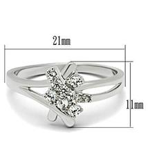 Silver Tone Cute Cluster Cubic Zirconia Ring - SIZE 5 TO 9 image 3