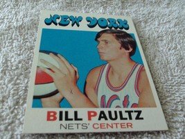 1971/72 Topps #156 Bill Paultz Rookie Near Mint / Mint Or Better !! - $49.99