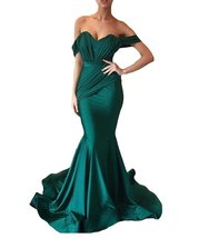 Women's Off the Shoulder Mermaid Evening Dresses Long Spandex Formal Party Gown image 3