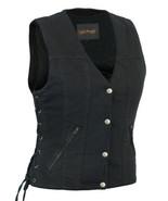 Women's Single Back Concealed Carry Biker Motorcycle Vest Daniel Smart A... - $39.95