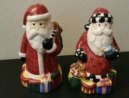 VTG Salt and Pepper Shakers by Sakura Magic of Santa Debbie Mumm 1996 Ch... - $21.29