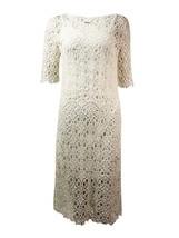 2810-2 Lauren Ralph Lauren Womens Lace Elbow Sleeves Casual Dress White ... - $69.29