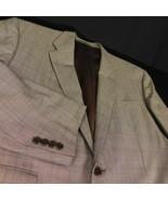 Ralph Lauren Purple Label Beige Check Plaid Wool Blazer Sz 46R - $99.99
