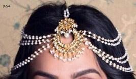 Bridal Maang Tikka Patti kundan Bollywood Johar... - $12.66