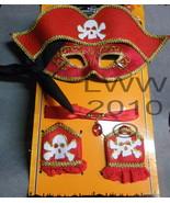 Adult Pirate Mask Wristlets and Choker Halloween Costume Kit - $9.99