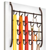 16 Hook Organizer Rack Over Door Wall Mount Scarf Holder Belt Hat Jewelr... - $655,97 MXN