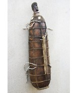 Rare Old Large Tribal Decorated Gourd Nassa She... - $296.99