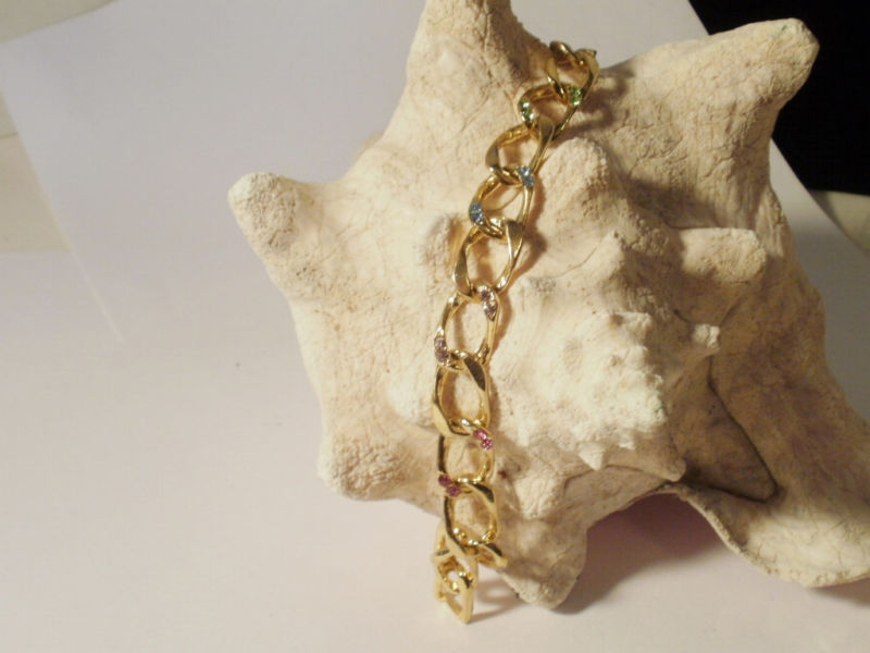 14K Gold Gep 11MM  Iced Out  Curb Bracelet Bling