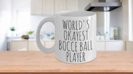 Worlds Okayest Bocce Ball Player Funny Gift Idea For Him Dad Husband Birthday Ce - $14.65+