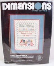 Dimensions Counted Cross Stitch Kit Home & Friends Sampler 3584 - $9.99
