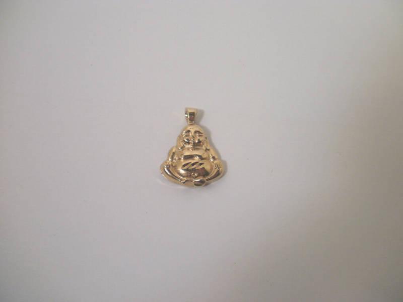 14K Yellow  Gold Plated Buddha Pendant Lifetime warranty
