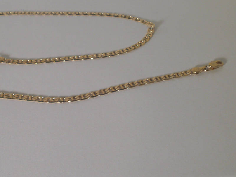 14K Gold Gep 3 MM Mariner Anchor Chain Lifetime Guarant