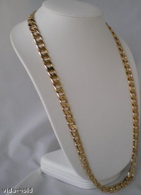 14K Yellow Gold Gep Curb Chain 12.5 MM Wide