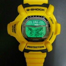 G-SHOCK CASIO DW-9100 Out of Print Riseman Yellow Color Rare Good Condit... - $343.52