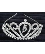 Vintage silver Tone Flower Rhinestone clear Hair Clip Barrette clip hair... - $6.99