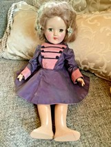 "Vintage Ideal  P-90 Toni Hard Plastic Strung Doll 14""  Dress no shoes - $69.29"