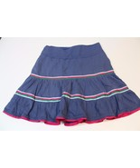 J2662 Juniors AMERICAN EAGLE Blue/Pink Tiered SKIRT Western Cotton SMall/4 - $21.22