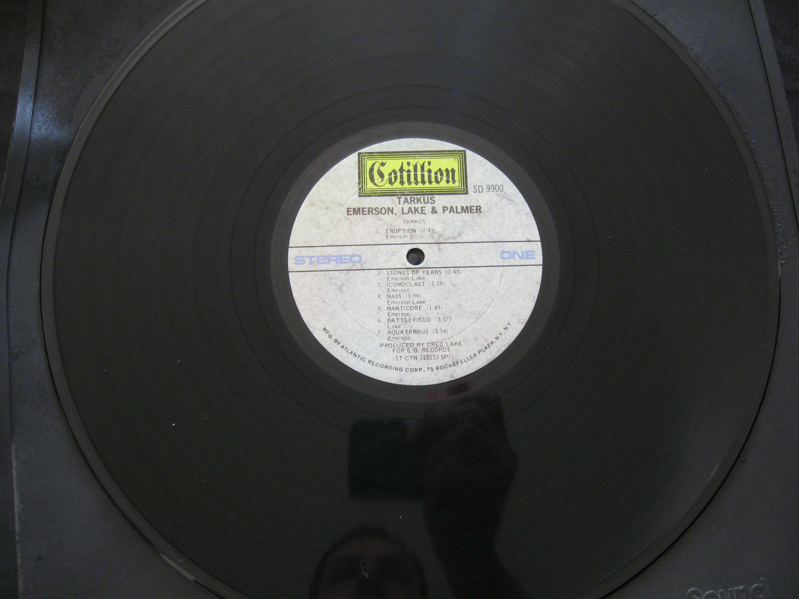Emerson Lake & Palmer ELP Tarkus Cotillion SD 9900 Stereo Vinyl LP Record Album image 4