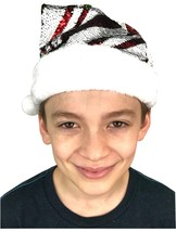 Magic Flippy Sequin Stripes Santa Hat for Kids Red to Green - €13,92 EUR