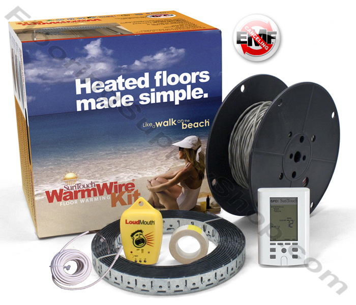 SunTouch Radiant Floor Heating WarmWire Kits 40 sq 120 Volt