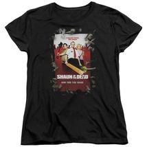 Shaun Of The Dead - Poster Short Sleeve Women's Tee Shirt Officially Licensed T- - $19.99+
