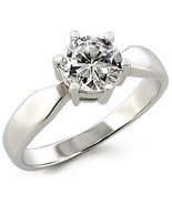Round Cut Solitaire Cubic Zirconia Engagement Ring - SIZE 7, 10 - $9.88