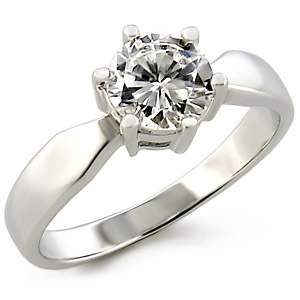 Round Cut Solitaire Cubic Zirconia Engagement Ring - SIZE 7, 10 image 2