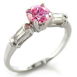 Cute 0.70 Carat Pink Cubic Zirconia Ring - SIZE 7, 8, 10 image 2